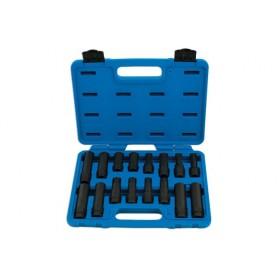 Zestaw kluczy do śrub zabezpieczających kół, uniwersalny 16 cz