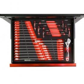 Combination spaner 6-32 mm, allen key, adjustable key, set 31 pcs