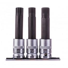 "Special bit socket set, for wheels BMW, 1/2"", 3 pcs"