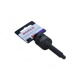 "Impact bit socket 1/2"", 75 mm, HEX 6"