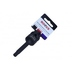 "Impact bit socket 1/2"", 75 mm, HEX 8"
