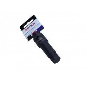 "Impact bit socket 1/2"", 75 mm, HEX 17"