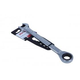 Klucz płasko-oczkowy z grzechotką, 15 mm
