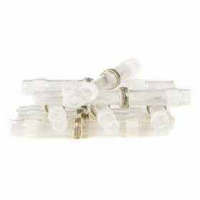 Soldering connection, sealed 1.7 mm, WHITE, 10 parts