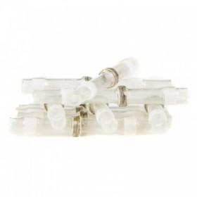 Złącze lutownicze, hermetyczne 1,7 mm, white, 10 cz
