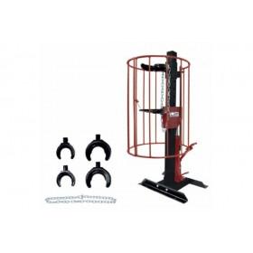 Ściągacz sprężyn hydrauliczny, stacjonarny z koszem, 1000 kg