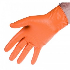 Rękawice nitrylowe strong orange l, kpl 90 szt