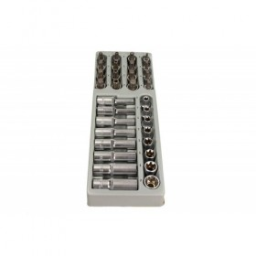 "TORX and SPLINE socket set 1/2"", 32 pcs, module 1/3"