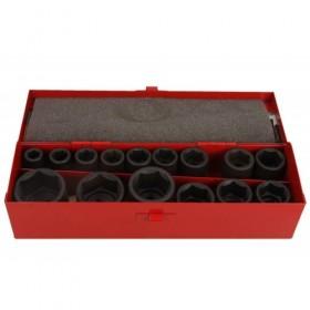 "Impact socket set 1/2"", 10 - 32 mm, 15 pcs"