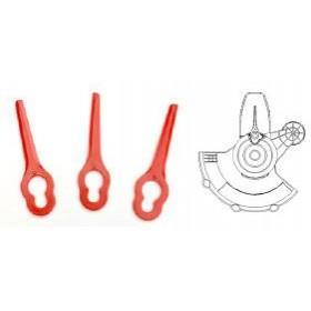 Nylon blades for grass trimmer, for OK-03.4013, 12 pcs