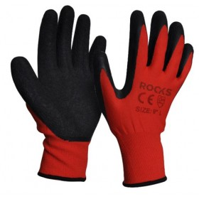 Work gloves polyester-nitrille, size L, 5 pairs