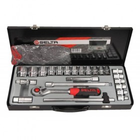 """1/2"""" toolkit, us. 12-angle, 24-part"""