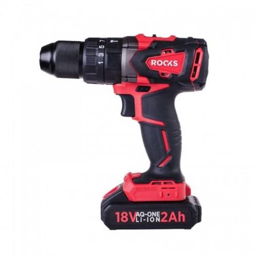 Brushless impact drill, 18V AQ-ONE, 62 Nm, 2 Ah, set