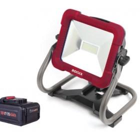 Lampa robocza led 18v aq-one 30w, 1500 lum, kpl z baterią i ładowarką